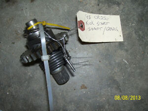 Honda CR250 kick start shaft and gears