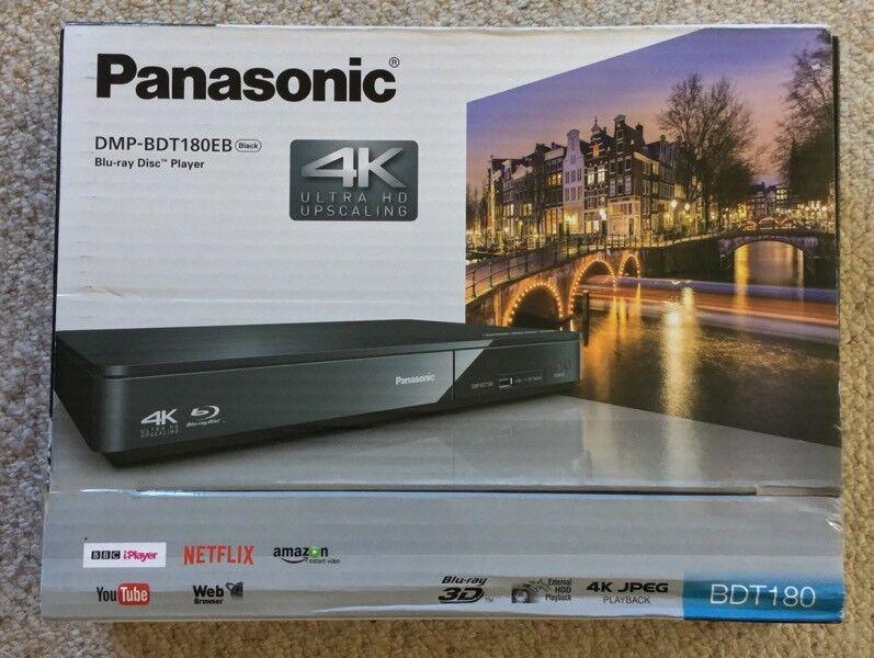 Panasonic DMP-BDT180EB 3D Blu-ray Player 4K Ultra HD Upscaling | in County  Antrim | Gumtree
