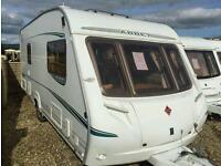 Abbey vogue gts 418 2005 fixed bed touring caravan