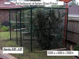 Factory seconds.-  Pet Enclosures sale This Saturday(30/7/2016) Preston Darebin Area Preview