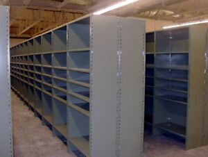 Warehouse   metal  shelving