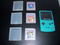 LOT Game Boy Color + 3 jeux GAME BOY Tetris Alleyway Dr Mario