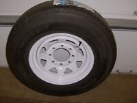 """""""NEW"""" TRAILER KING ST RADIAL TIRE AND RIM"""