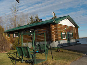 Kamiskotia Lake Front Log Home for Sale