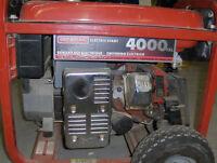 Generac Generator 4000 exl
