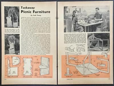 Take-Apart Patio Table & Chairs 1948 HowTo Build PLANS easy storage & transport ()