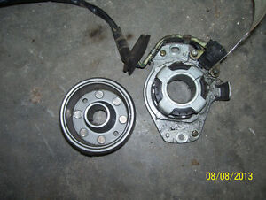 Honda CR250 stator magneto and flywheel rotor