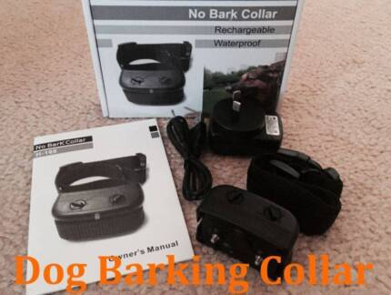 Rechargeable Waterproof Automatic Barking Collar Vibration Shock