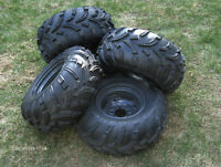 NEW KUBOTA RTV TIRES AND RIMS , COMPLETE SET OF 4