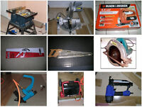 FOR RENT: table saw, miter saw, router, air tools , nailer