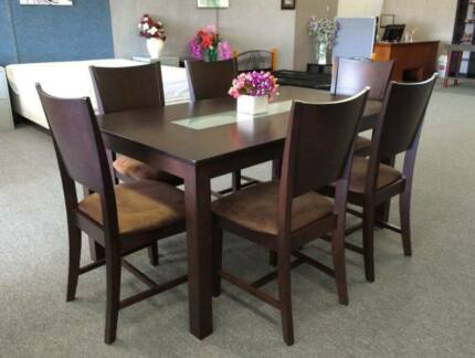 DELIVERY TODAY 7 pieces MODERN dining table CHOCOLATE QUICK SALE Perth Region Preview