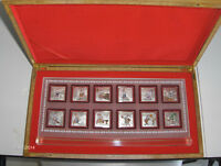 Silver-Chinese silver Foil year of the Rabbit set