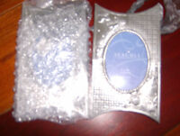 """""""NEW"""" 2 PEWTER HANGING PICTURE FRAMES"""