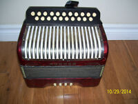 Hohner Erica button accordion, CF.