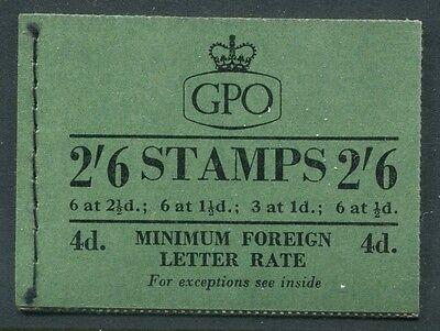 Great Britain - 1954 - 2/6 Wilding Booklet - Scott BK86 - SG# F23 - NH