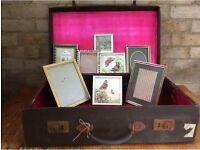 Vintage Suitcase with Photo Frames