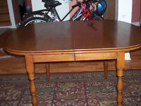 """Antique solid wood dining table size 36"""" x 48"""""""