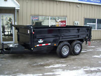 7X12 AND 7X14 HEAVY DUTY DUMP TRAILERS