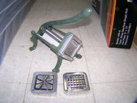 French Fry Chopper 3 attachments $ 225.00 Call 727-5344