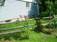 CEDAR FENCE RAILS & POST