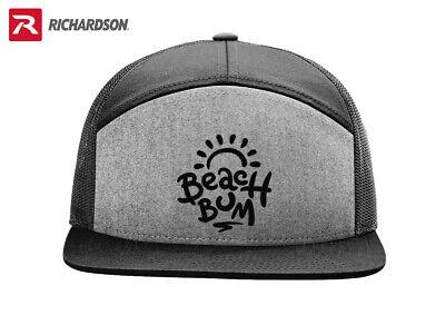 SURFER BEACH BUM LOVER RICHARDSON FLAT BILL SNAPBACK HAT * FREE SHIPPING in BOX*