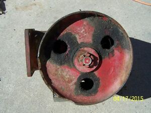 IH tractor belt pulley attachment