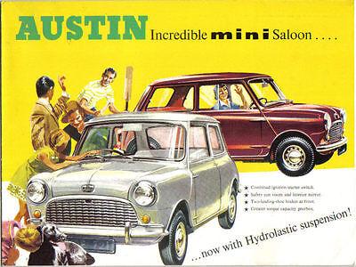 Austin Mini Saloon Mk 1 1964-67 Original UK Sales Brochure Pub. No. 2286D