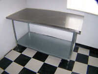 Stainless Tables,Shelf Units Call 727-5344