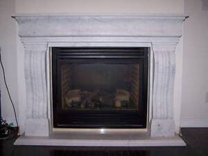 real natural marble hand-carved fireplace mantel