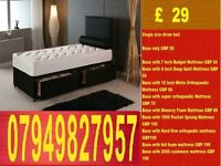 New SINGLE Divan Bed IN BLACK AND WHITE DOUBLE KINGSIZE Bed