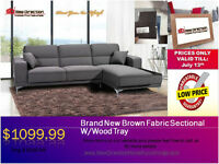 ◆2 PCS Fabric Sectional on Sale@New Direction Home Furnishings◆