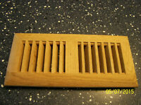 PACKAGE OF (9) NINE OAK LOUVERED FLOOR REGISTERS