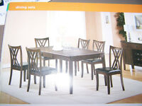 New Dining Sets FINAl SALES $ 349.00 to $ 975.00 Call 727-5344
