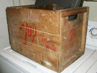 VINTAGE CRATE FULL OF ANTIQUES