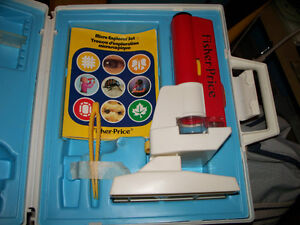Fisher Price Micro Explorer Set Microscope with Case