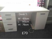 Used desk , 1 big, 1 small