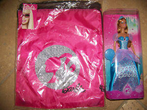 Blue Barbie Doll with Barbie Carrying Bag