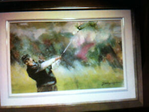 TIGER WOODS GOLF PAINTING (WINDY LIKE LIFE) BY GERMAIN GRATTON West Island Greater Montréal image 1