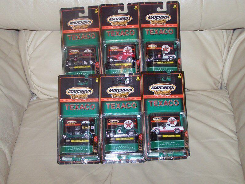 2000- Mattle- MATCHBOX- TEXACO- SERVICE THROUGH THE YEARS- 6 VEHICLE SET- MIB