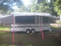 4 Tent Trailer Campers for rent and 2 for sale or rent.