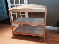 Solid birch baby change table