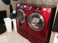 Samsung high capacity washer and dryer with pedestals