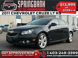 2011 Chevrolet Cruze LT Turbo w/Sunroof $69B/W INSTANT APPROVAL,