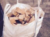 Firewood logs well seasoned hard/soft wood in bulk dumpy bags , loads or nets free delivery lancs