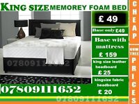 Double and King Size Memory Foam Base / Bedding