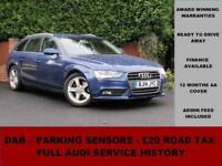 2014 Audi A4 AVANT SE 2.0 TDIe 136PS, DIESEL, MANUAL, BLUE, PARKING SENSORS