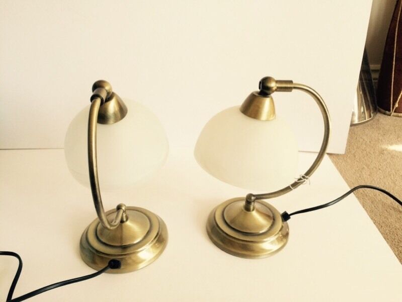 Pair of touch control lamps - antique brass Roland Homebase