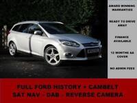 2012 12 Ford Focus 1.6 TDCI TITANIUM 115PS, SAT NAV, DAB, REVERSE CAMERA, SILVER