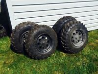 atv rims and tires - fits Can am