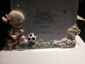 Precious moments soccer player frame